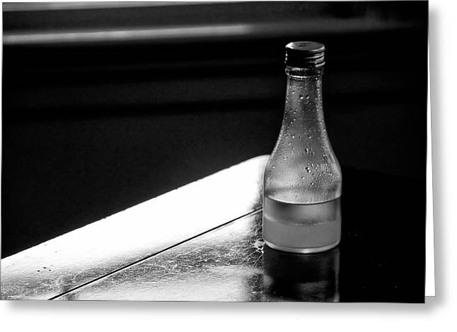 Bottle Near Window Greeting Card by Guillermo Hakim