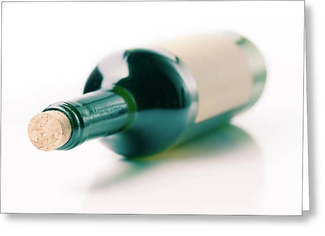 Bottle Of Wine Greeting Card by Wladimir Bulgar
