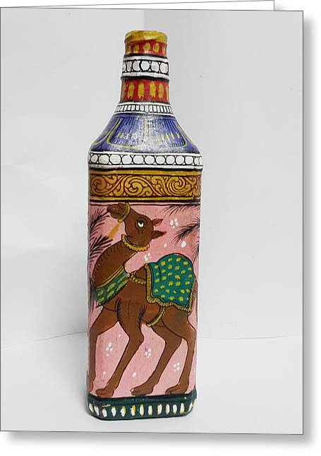 Bottle Painting  Greeting Card