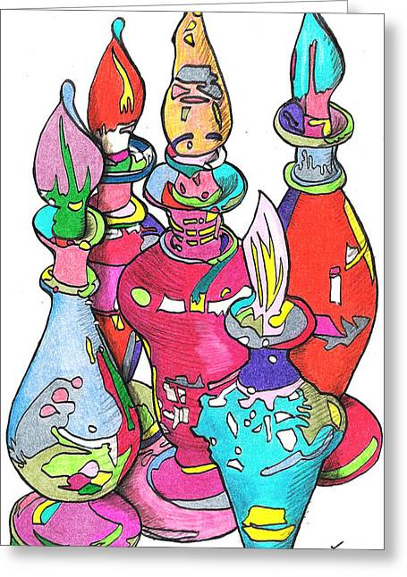 Bottle2010 Greeting Card