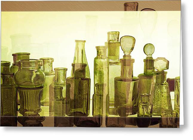Bottled Light Greeting Card by Holly Kempe