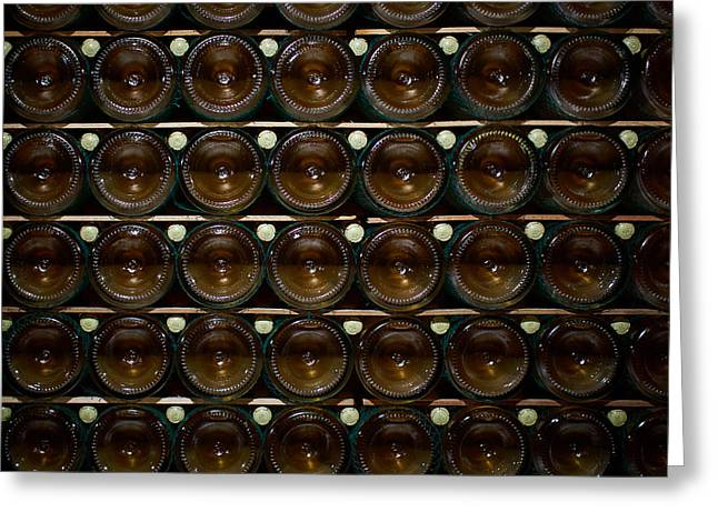 Bottles. Ca Del Bosco Winery. Franciacorta Docg Greeting Card by Jouko Lehto