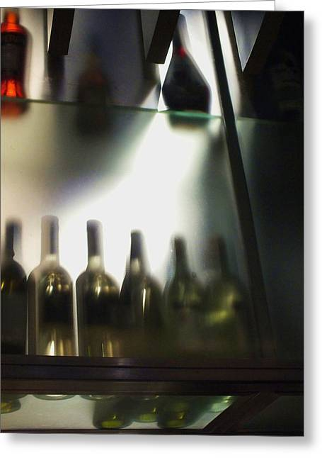 Bottles II Greeting Card by Anna Villarreal Garbis