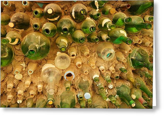 Bottles In The Wall Greeting Card by Jeff Swan