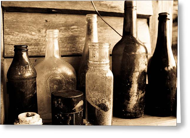 Bottles Greeting Card by Jeff Wright