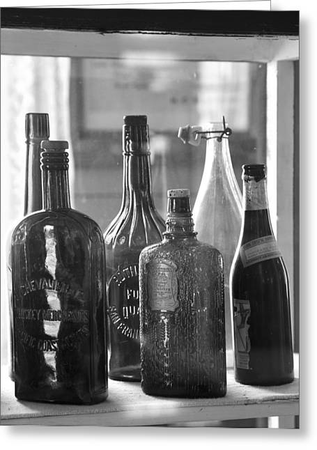Bottles Of Bodie Greeting Card by Jim Snyder