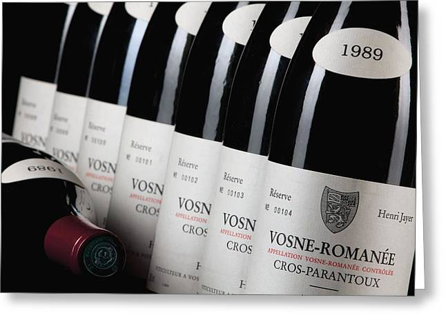 Bottles Of Vosne-romanee Premier Cru Cros Parantoux Greeting Card
