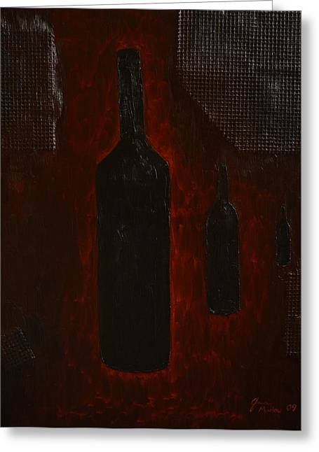 Greeting Card featuring the painting Bottles by Shawn Marlow