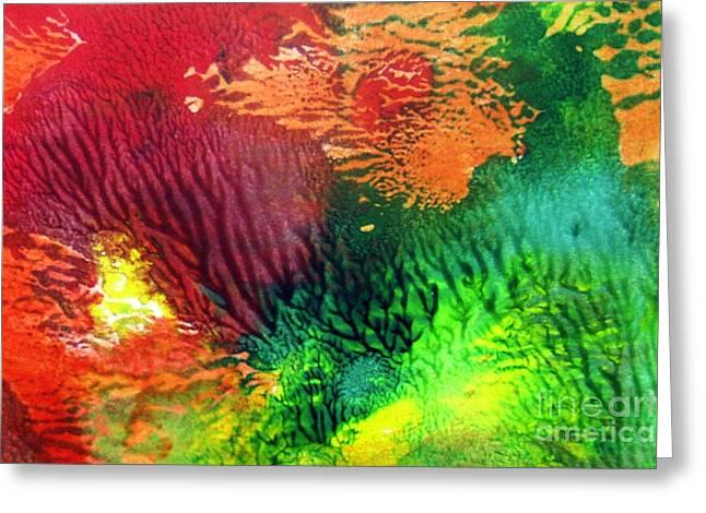 Bottom Of Ocean Greeting Card by Nancy Rucker