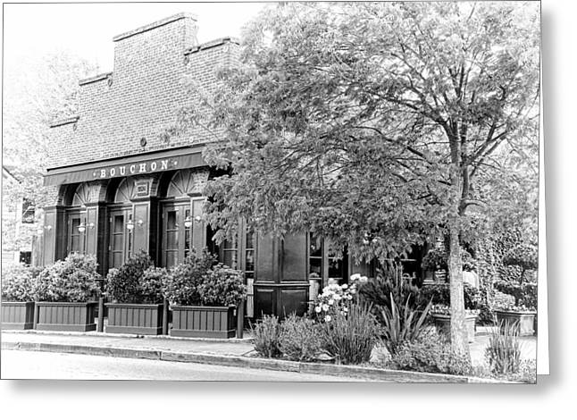 Bouchon In Black And White Greeting Card by Jenny Hudson