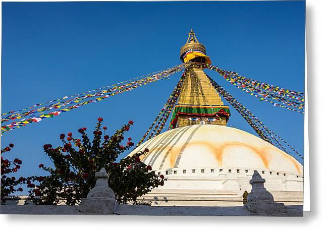Boudhanath Stupa Greeting Card