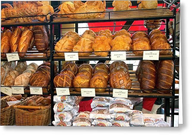 Boudin Sourdough Bread Bakery Greeting Card