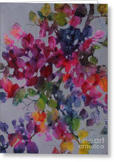 Bougainvillea Greeting Card by Michelle Abrams