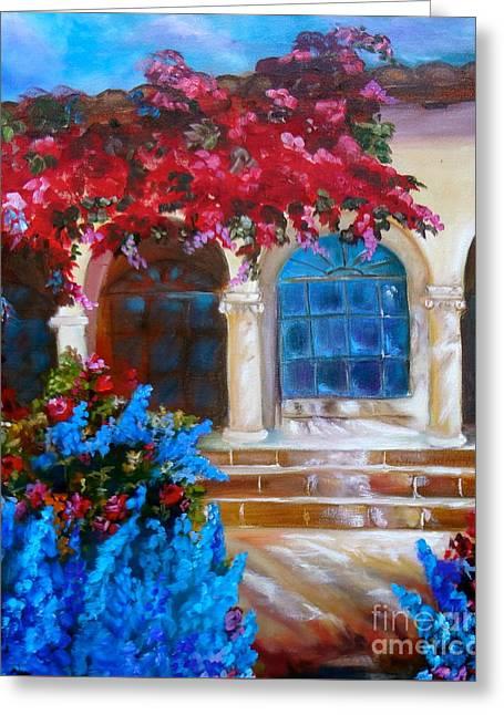 Bouganvellea Hacienda Greeting Card