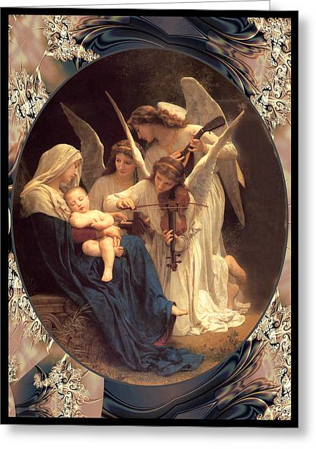 Bouguereau Vintage Angels 2 Greeting Card by Robert Kernodle