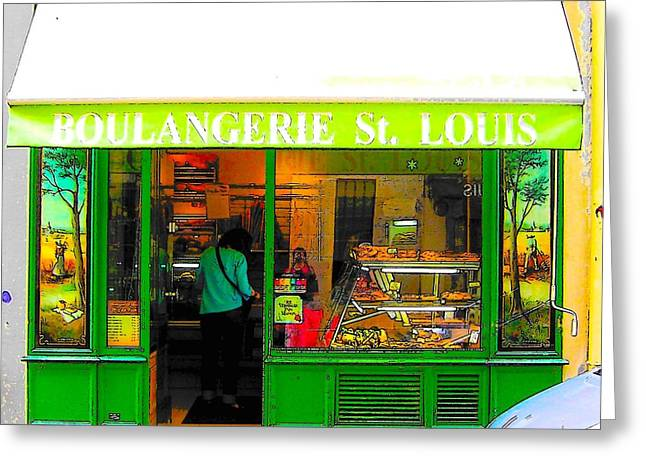 Boulangerie St Louis Greeting Card by Jan Matson