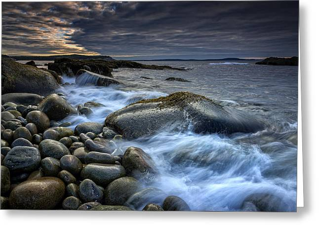 Boulder Beach Dawn Greeting Card by Rick Berk