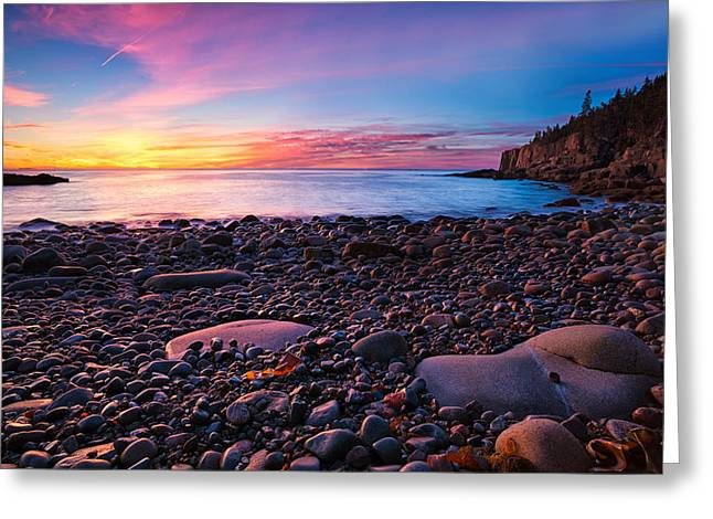 Boulder Beach Sunrise Greeting Card by Darylann Leonard Photography
