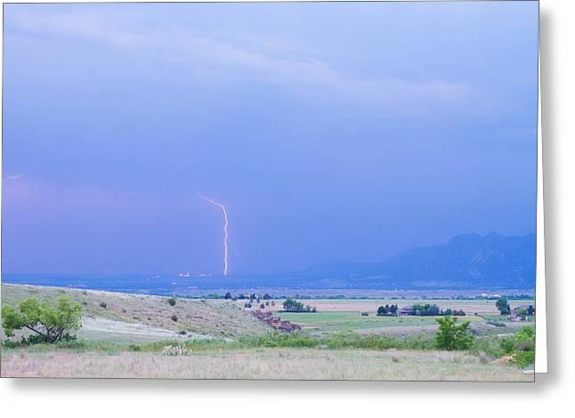 Boulder Colorado Lightning Strike Greeting Card by James BO  Insogna