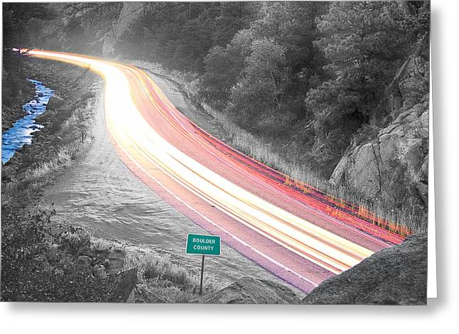 Boulder County Colorado Blazing Canyon View Bwsc Greeting Card by James BO  Insogna