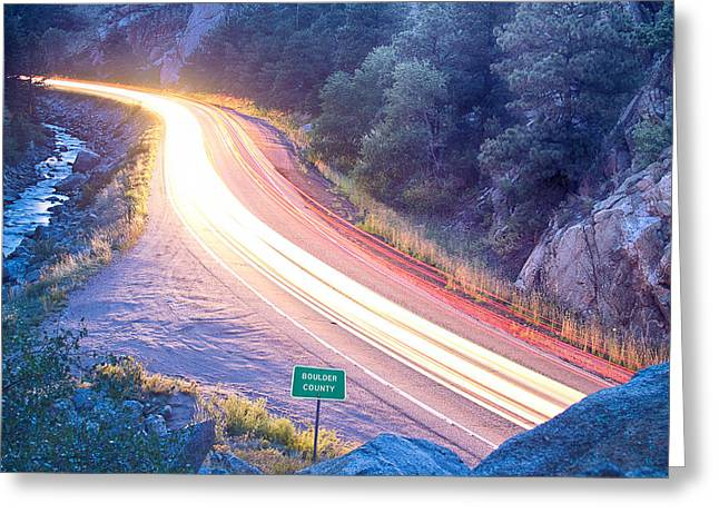Boulder County Colorado Blazing Canyon View Greeting Card by James BO  Insogna