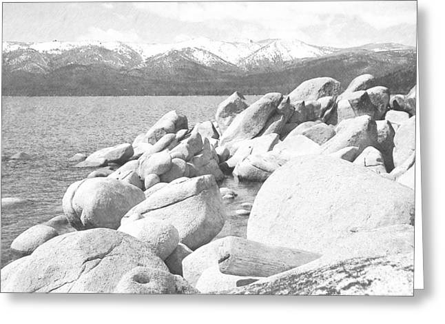 Boulder Shore On Lake Tahoe Greeting Card by Frank Wilson