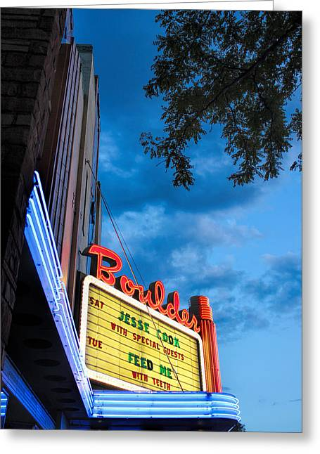 Boulder Theater Greeting Card