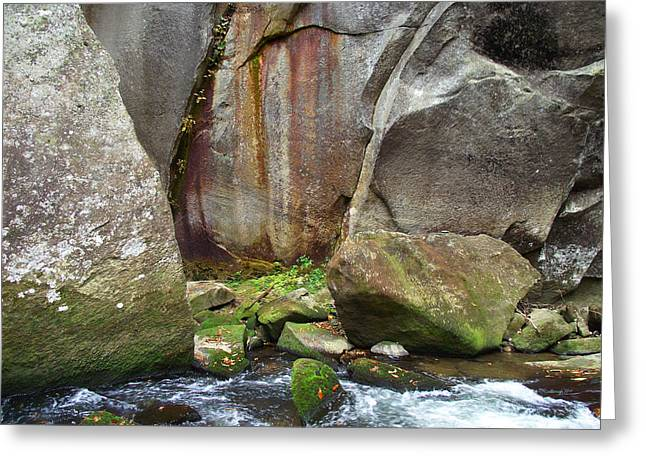 Boulders By The River Greeting Card