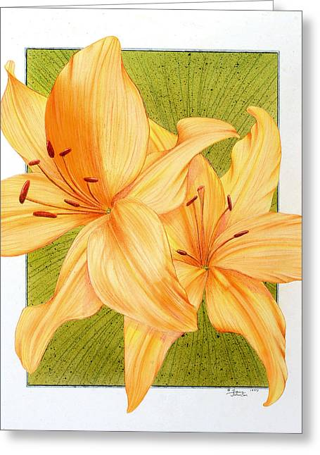 Bounding Bloom Greeting Card