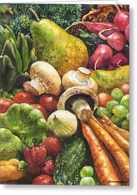 Bountiful Greeting Card by Anne Gifford