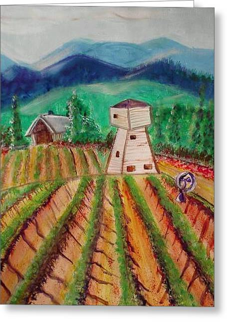 Greeting Card featuring the painting Bountiful Harvest by Carol Duarte