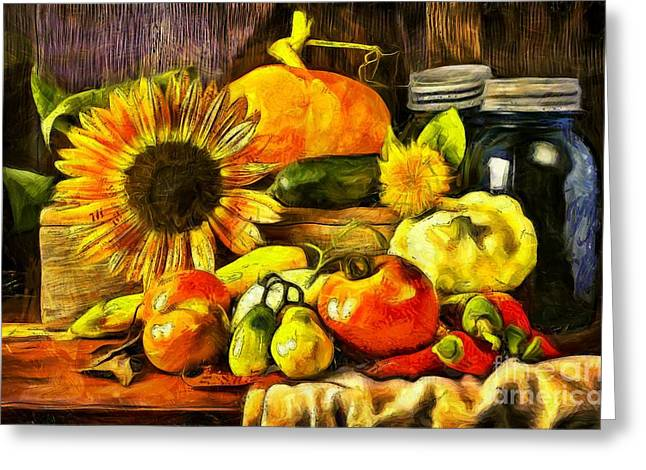 Bountiful Harvest Van Gogh Style Greeting Card