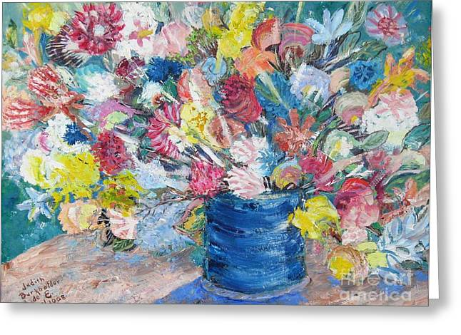 Bouquet 1 - Sold Greeting Card by Judith Espinoza