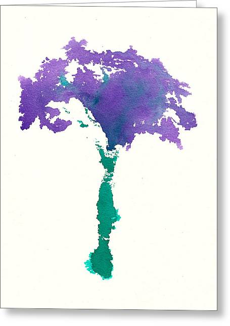 Greeting Card featuring the painting Bouquet Abstract 1 by Frank Bright