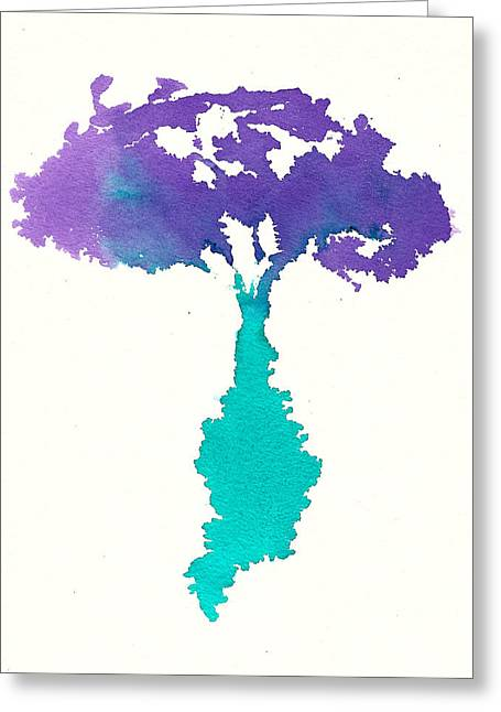 Greeting Card featuring the painting Bouquet Abstract 2 by Frank Bright