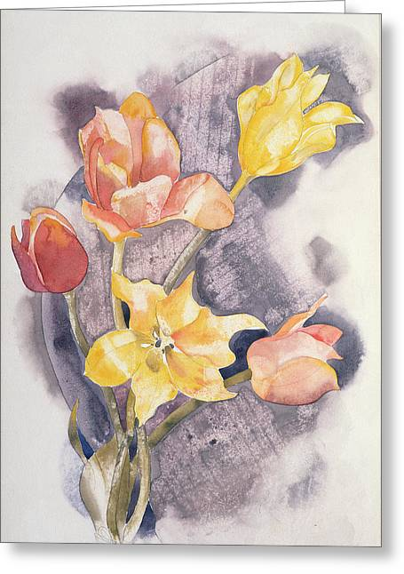 Bouquet, C.1923 Wc On Paper Greeting Card