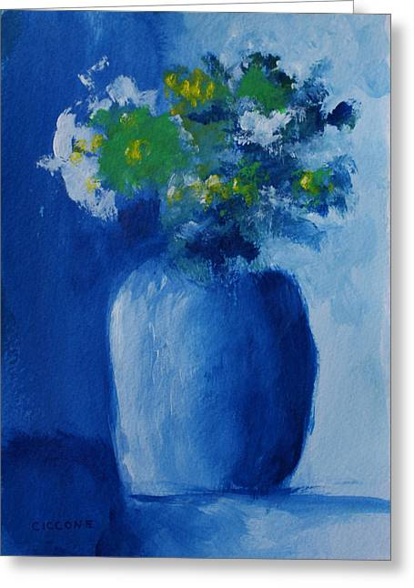 Bouquet In Blue Shadow Greeting Card
