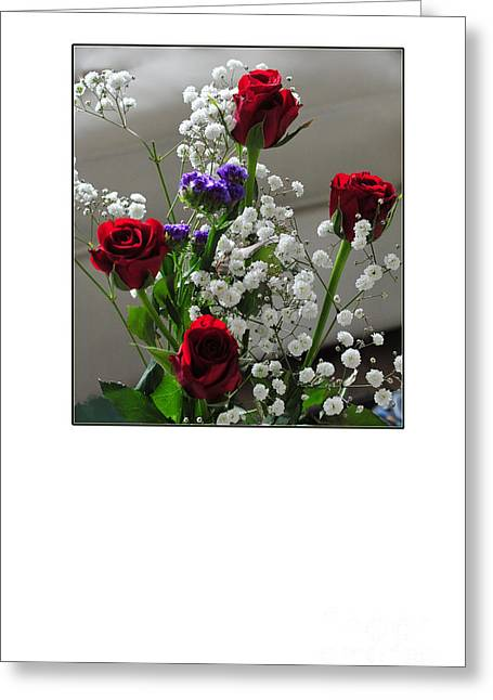 Bouquet In Red White And Blue Greeting Card by Randi Grace Nilsberg