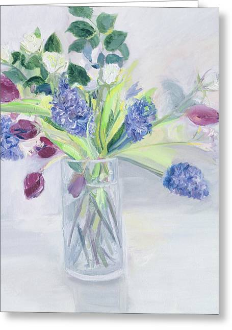 Bouquet  Mixed Bunch Greeting Card by Sophia Elliot