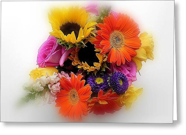 Bouquet Of Color Greeting Card
