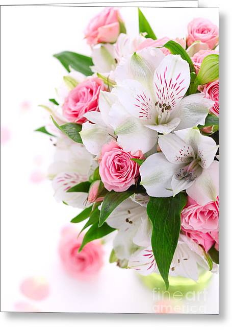 Bouquet Of Flowers Greeting Card by Boon Mee