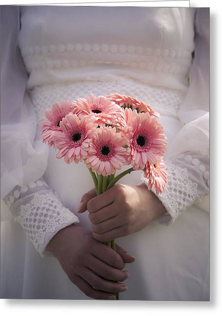 Bouquet Of Flowers Greeting Card by Maria Heyens
