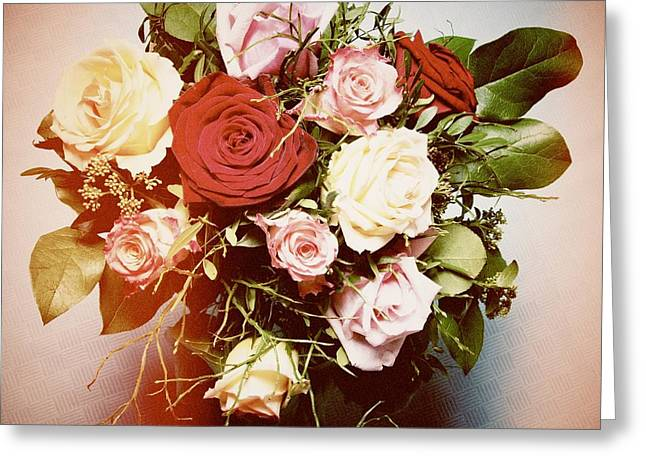 Bouquet Of Flowers Greeting Card by Matthias Hauser