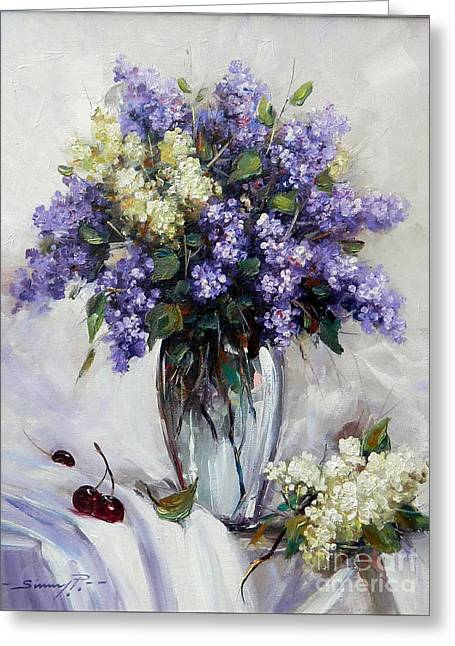 Bouquet Of Lilac Greeting Card by Petrica Sincu