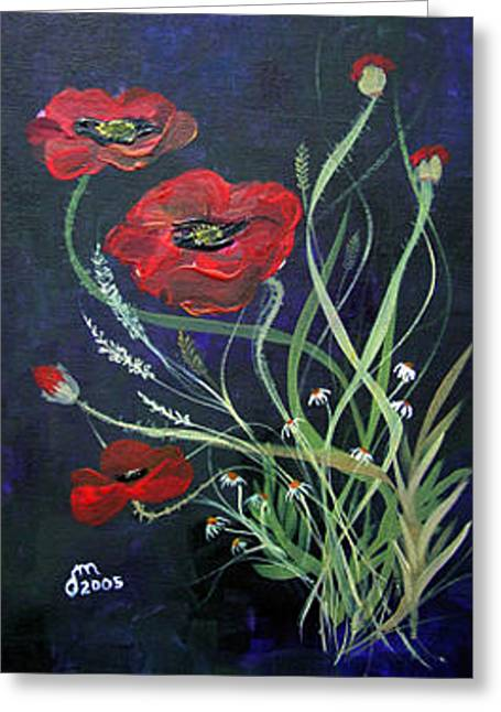 Greeting Card featuring the painting Bouquet Of Poppies by Dorothy Maier
