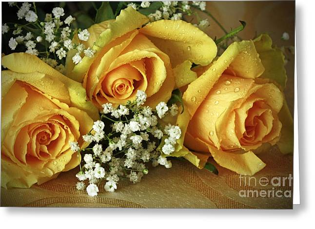 Bouquet Of Sunshine Greeting Card by Inspired Nature Photography Fine Art Photography