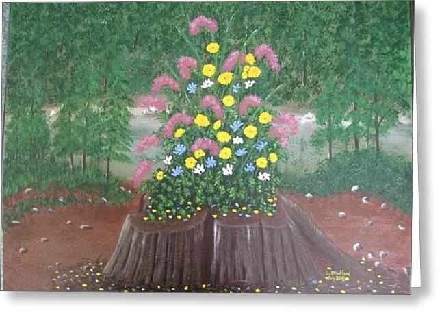 Bouquet On A Stump Greeting Card