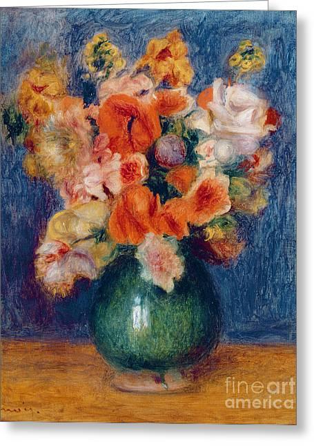 Bouquet Greeting Card by Pierre Auguste Renoir