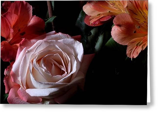 Bouquet With Rose Greeting Card by Joe Kozlowski