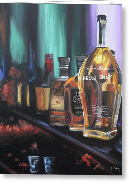 Bourbon Bar Oil Painting Greeting Card